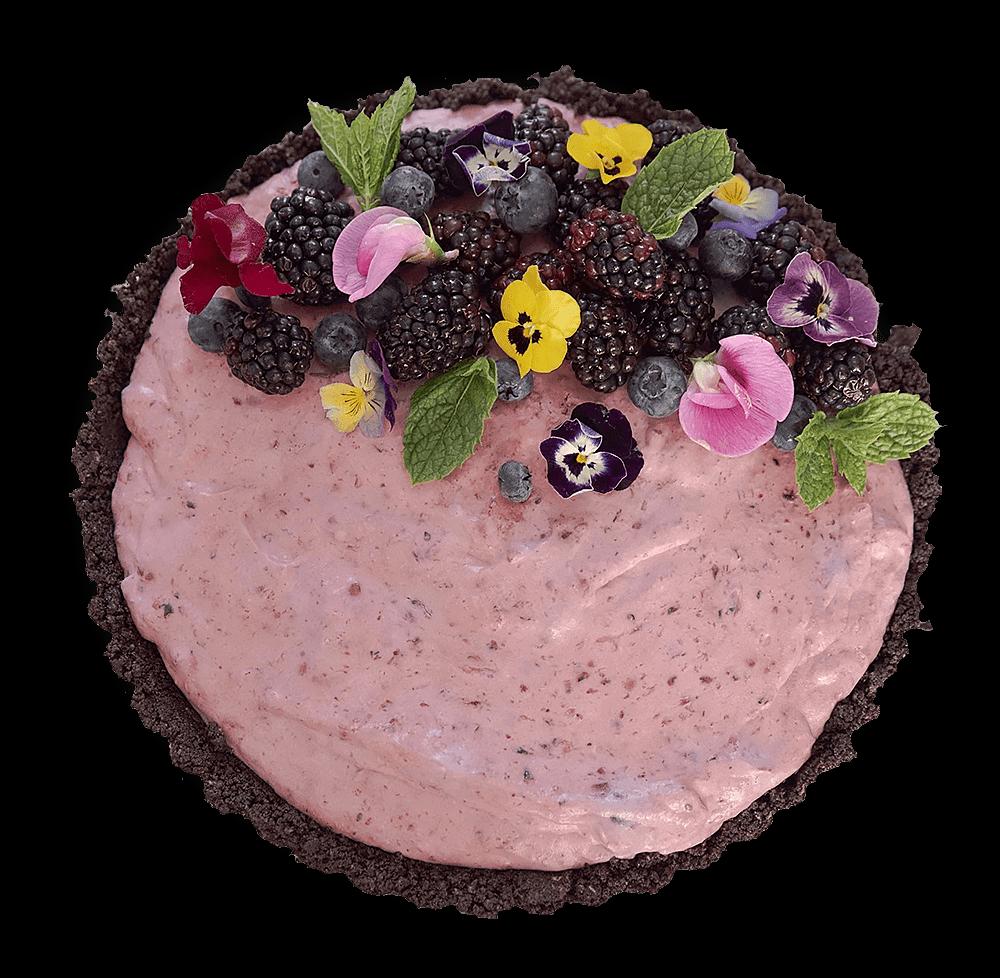 No bake blackberry cake
