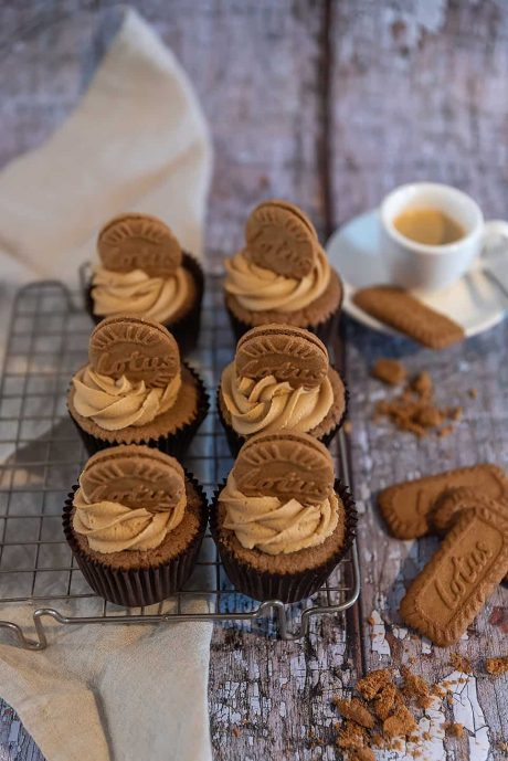 Biscoff Flavoured Cup cakes